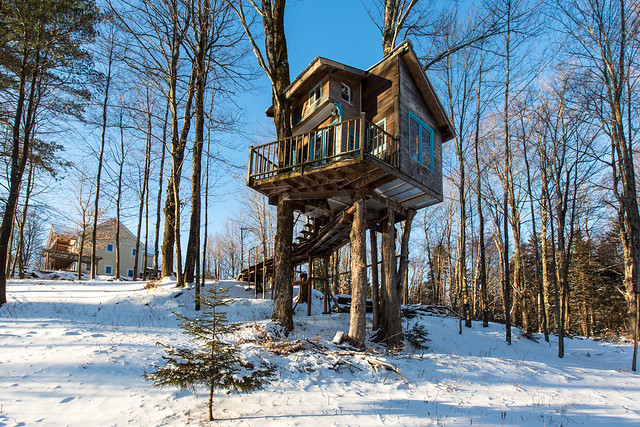 The Tiny Fern Forest Treehouse Lincoln Vt 2013 Feb