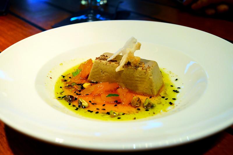 Pistachio Kulfi - vanilla kumquat, candied pistachiio, cardamom