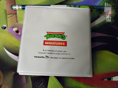 NOTEWORTHY :: TEENAGE MUTANT NINJA TURTLES 'MINIATURES'; ADDRESS BOOK iii (( 1990 ))