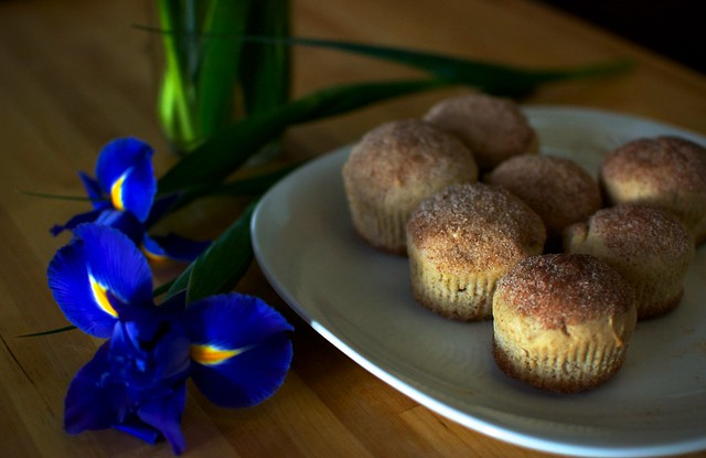French Breakfast Muffins and Springtime Flowers