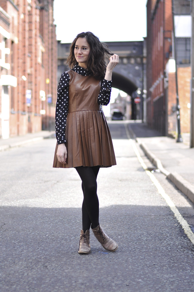 dots and leather Chicwish