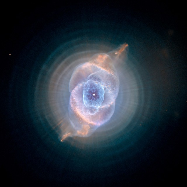 The Cat's Eye Nebula- Dying Star Creates Fantasy-like Sculpture of Gas and Dust