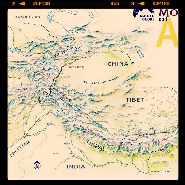 Pin Hindu kush mountains afghanistan map on Pinterest
