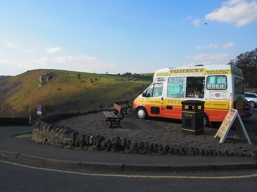 ice cream van at Monsal Head
