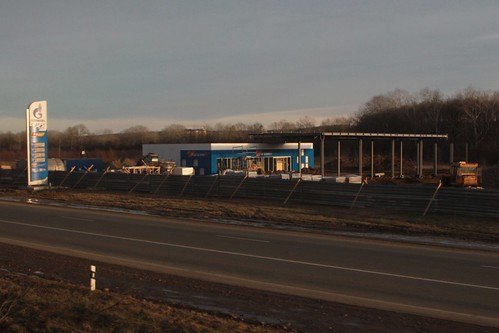 Gazprom petrol station under construction in Russia