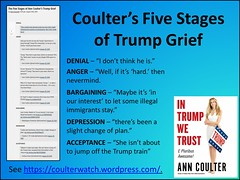 Coulter's Five Stages of Trump Grief