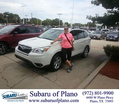 Happy Anniversary to Jennifer on your #Subaru #Forester from Lou Colvin at Subaru of Plano!