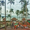 From the lookout at the rooftop of the Wharf overlooking Coco Tam's and Fisherman's Village. #Thailand #kohsamui #thewharf #fishermansvillage