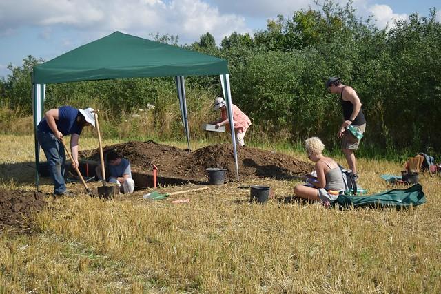 Sena Slovakia Aurignacian excavation