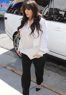 Kim Kardashian Monochrome Trend Celebrity Style Women's Fashion