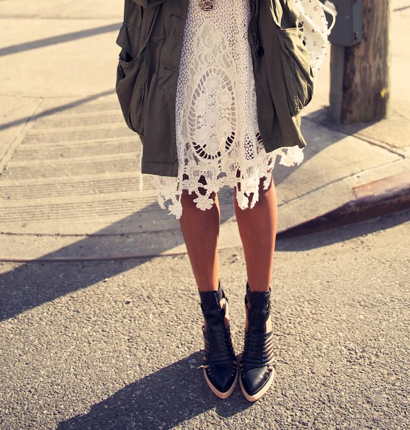 Free People Mi Amore lace dress