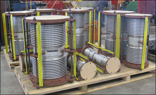 "2""-18"" Dia. Custom Tied Universal Expansion Joints Designed for a Chemical Plant"