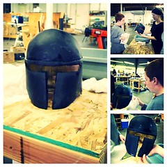 Chris is getting closer and closer to finishing his helmet!