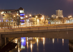 Night time by River Dee in Aberdeen