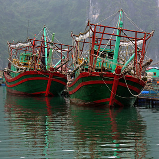 more boats... from Ha Long Bay