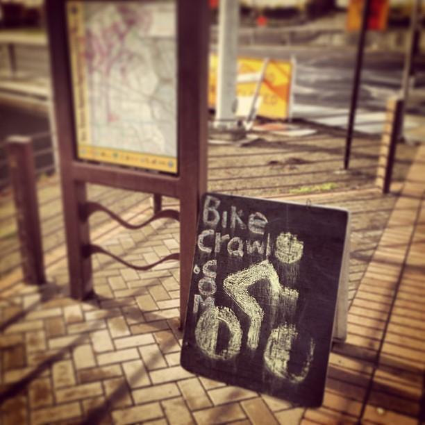 Bikecrawl.com signage.