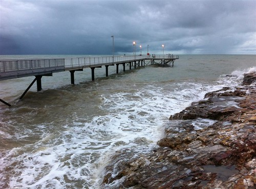 Nightcliff jetty at high tide