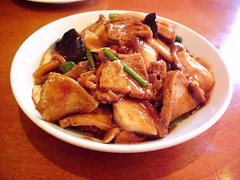 seafood, kung pao chicken, meat, produce, food, dish, cuisine,