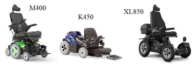 Permobil modelos: M400, K450 e XL850