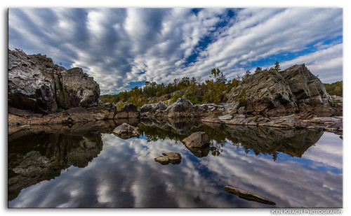 reflection water clouds river maryland potomacriver greatfallsmaryland