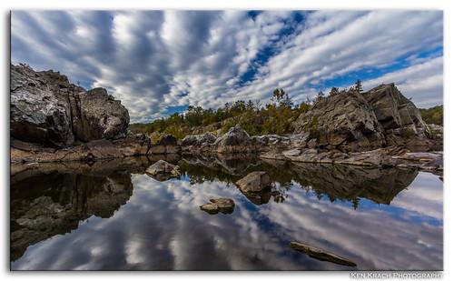 reflection water clouds river maryland potomacriver greatfallsmaryland