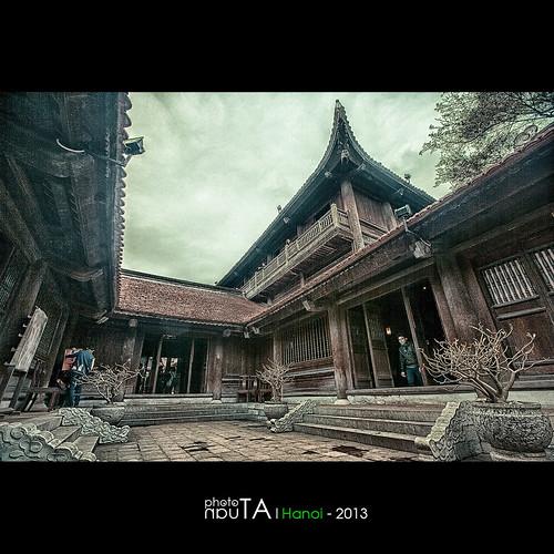 building landscape temple vietnam hanoi hdr