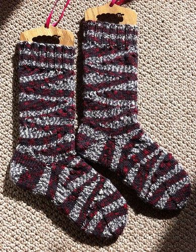 Zig Zag Boot Socks by Beatrixknits