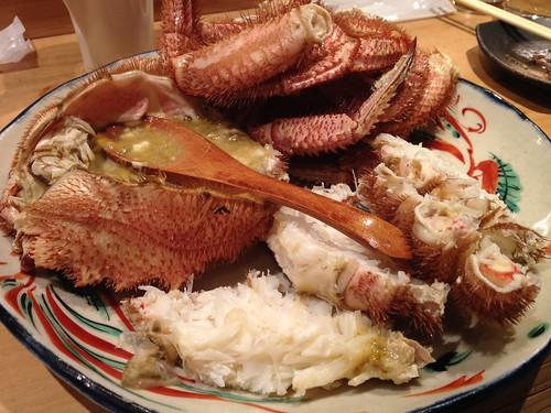 ボイルされた毛蟹。美味しいのです!@居酒屋純ちゃん
