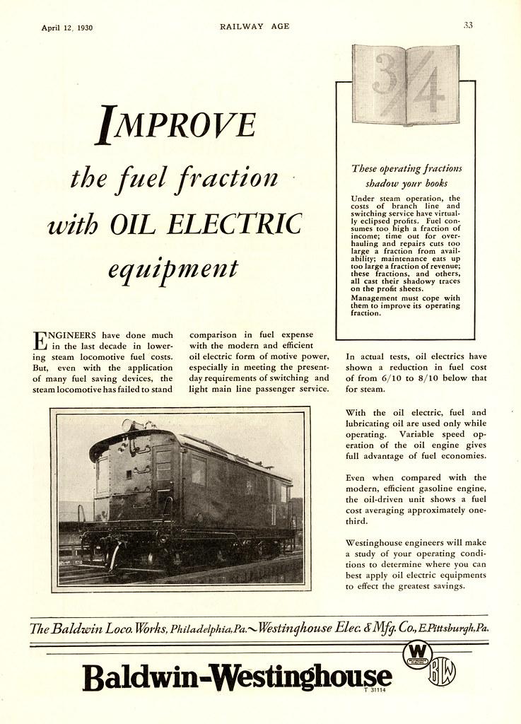 Baldwin Westinghouse Ad 1930