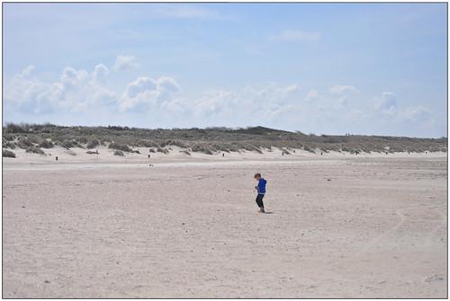 klein kind groot strand