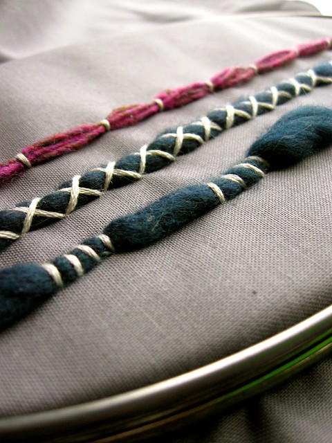 Couching Stitch Sampler