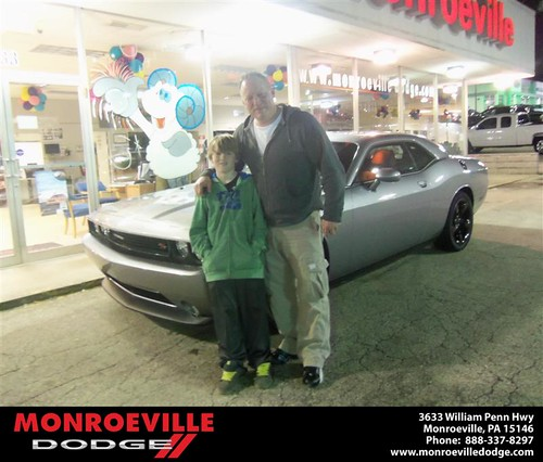 Monroeville Dodge would like to say Congratulations to Stephen Sehovski on the 2013 Dodge Challenger by Monroeville Dodge