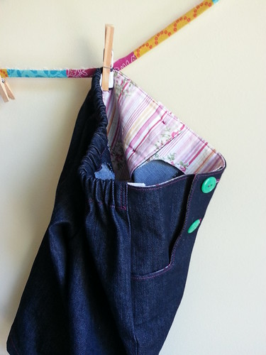 Sailboat Pants - pink lining