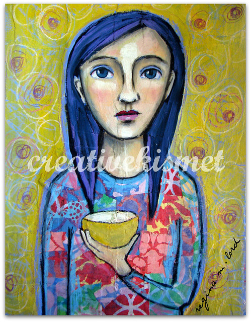 Yellow Cup ~ art by Regina Lord