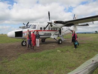 Air Kenya flight from Masai Mara to Nairobi