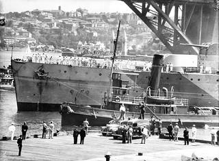 HMAS SYDNEY moored at East Circular Quay