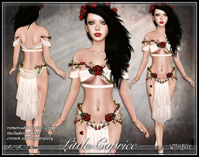 Caprice Fairy Silks (Red/White) Second Life Silks Fantasy