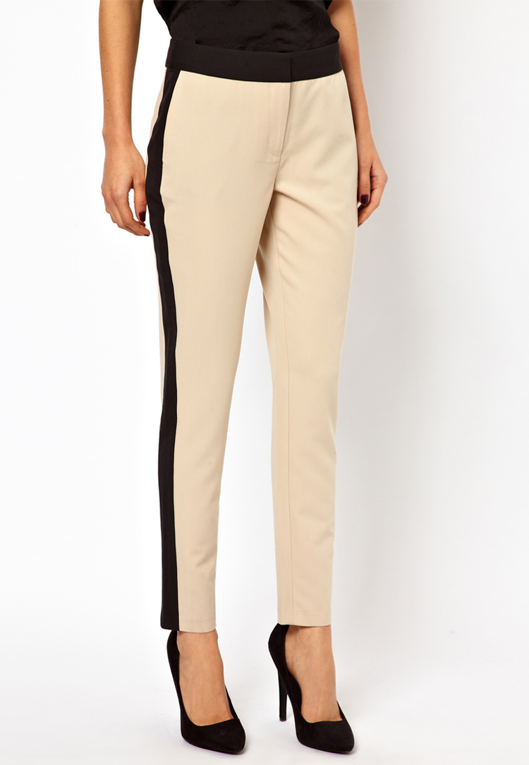 ASOS PETITE Exclusive Trousers With Contrast Panel