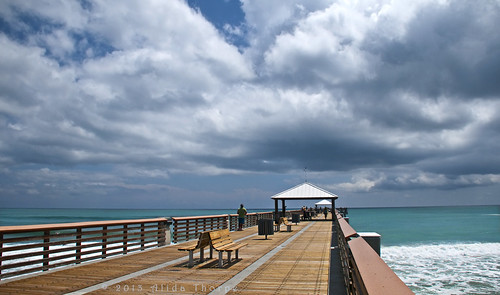 juno beach fishing pier by Alida's Photos