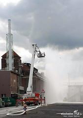 Gefahrstoffaustritt Industriepark Höchst 14.05.13