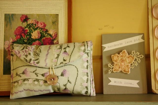 silk purse & brooch
