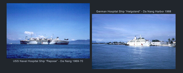 Hospital Ships USS REPOSE and HELGOLAND in Da Nang
