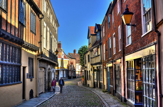 Ancient street in Norwich's city centre