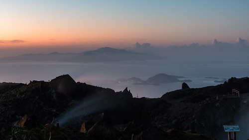 leverdesoleil sigma1750mmf28 cratère fumerolles sunrise aube ladominique lessaintes france antilles caraïbes caribbean guadeloupe volcan soufrière basseterre iles