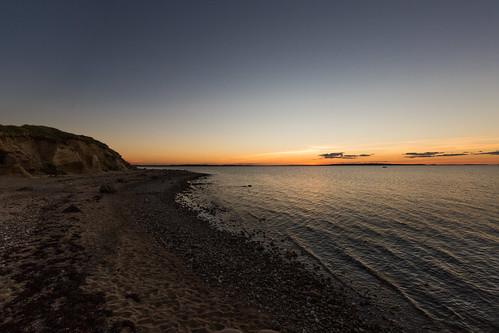 ertebølle denmark jutland beach sunset jylland danmark