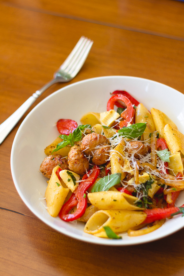 Pasta with Italian Sausages, Basil and Meyer Lemons ...