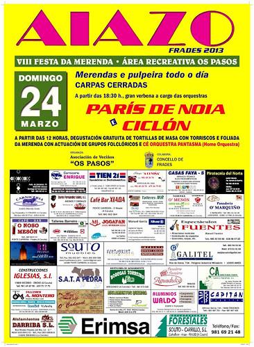 Frades 2013 - VIII Festa da Merenda en Aiazo - cartel 2