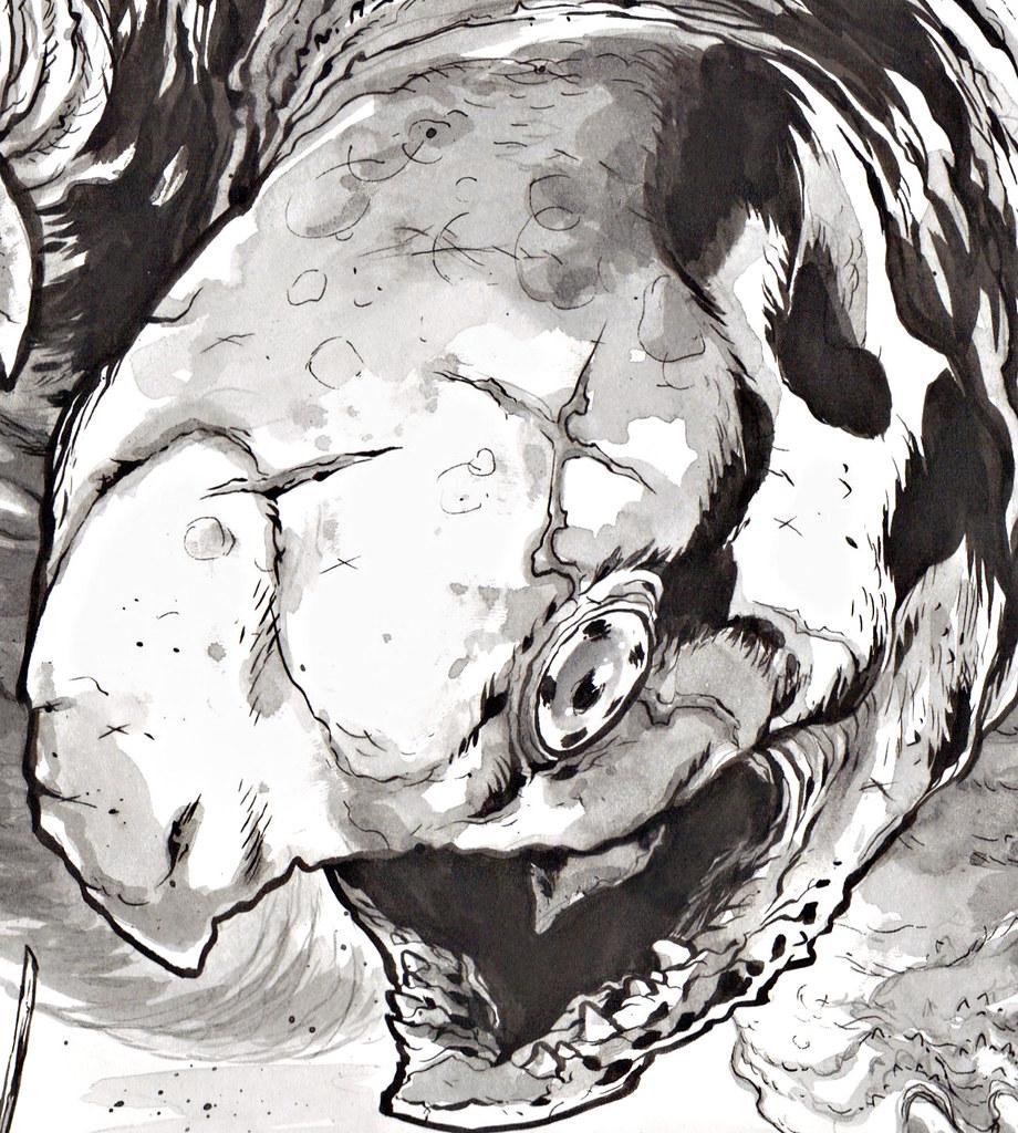"""LEONARDO v. TERRORPIN"" by Ross Campbell ii (( 2013 )) by tOkKa"
