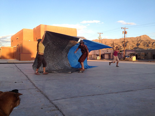 Tarp Surfing by mikey and wendy