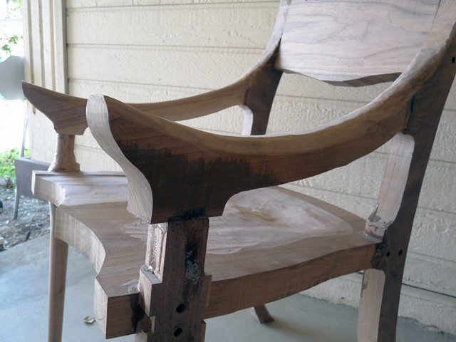 Sam Maloof Chair in Progress